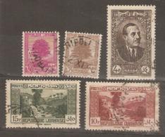 Lebanon 1937  Various Values  Fine Used - Libanon