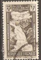 Lebanon 1945  SG 294 Litani Falls Fine Used - Libanon