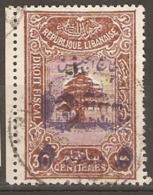 Lebanon 1945  SG T289 Army Fiscal Stamp Surcharged  Fine Used - Libanon