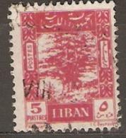 Leanon 1947 SG  333c Cedar Of Lebanon Fine Used - Libanon