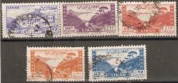 Leanon 1947 Various Values Fine Used - Libanon
