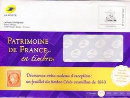 """Entier Postal Pour Catalogue PHIL@POSTE - Repiquage Par Philaposte Timbre """" Patrimoine De France En Timbres """" 223596 - Prêts-à-poster: TSC Et Repiquages Semi-officiels"""