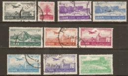 Lebanon  1952 Various Values  Fine Used - Libanon
