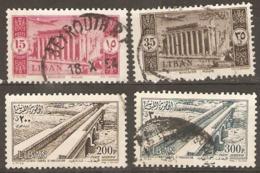 Lebanon  1954 Various Values  Fine Used - Libanon