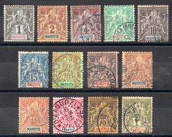 MAYOTTE - YT N° 1 à 13 - Cote: 175,00 € - Mayotte (1892-2011)