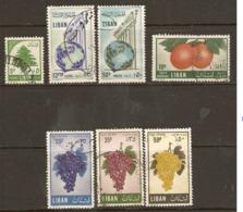 Lebanon  1955 Various Values  Fine Used - Libanon