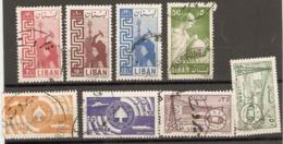 Lebanon  1957 Various Values  Fine Used - Libanon