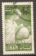 Lebanon  1959  SG  632  Surcharged   Fine Used - Libanon