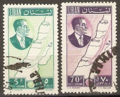 Lebanon  1961  SG 679,81    Fine Used - Libanon