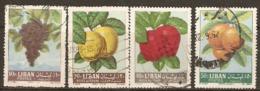 Lebanon 1962  Fruit  Various Values   Fine  Used - Libanon
