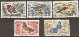 Lebanon  1965  Birds, Butterflies Various Values  Fine Used - Libanon