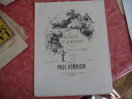 Ancienne Partition Musique La Meuniere Et Meunier Chansonette Edi Leduc De Clement Et Henrion - Scores & Partitions