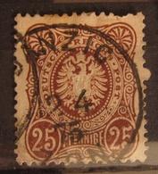 Deutsches Reich 1875, Mi. 35 FZL Fehl. Zähnungsloch, Value +44,- - Used Stamps