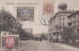 Tram/Strassenbahn Warszawa/Warschau Krakowskie-Przedmiescie, Gelaufen - Tramways