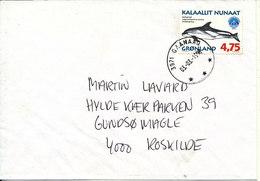 Greenland Cover Sent To Denmark Qaanaaq 3-3-1998 Single Franked - Greenland