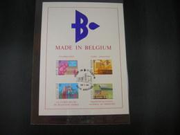 "BELG.1984 2114 2115 2116 & 2117 Philacard :"" Made In Belgium "" - 1981-90"