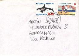 Greenland Cover Sent To Denmark Qaanaaq 13-1-1998 Topic Stamps - Groenlandia