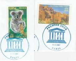 FRANCE 2007 UNESCO OBLITERE YT - 138 +139         - - Servizio