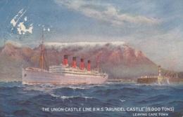 """Union Castle Line,""""Arundel Castle"""", Gelaufen - Passagiersschepen"""