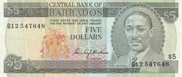 5 Dollars 1975 - Barbados
