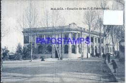 113871 SPAIN ESPAÑA MALAGA ANDALUCIA STATION TRAIN ESTACION DE TREN LOS SUBURBANOS POSTAL POSTCARD - Spanje