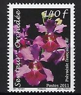 """Polynésie YT 956 """" Orchidées """" 2011 Neuf** - Polynésie Française"""
