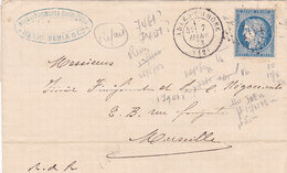 624 -  CERES 60 -  ARLES  A  MARSEILLE - Postmark Collection (Covers)