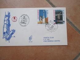 12.9.1991 Europa Unita CEPT Su FDC Venetia Viaggiata Spazio ESA Vettore Europeo - San Marino