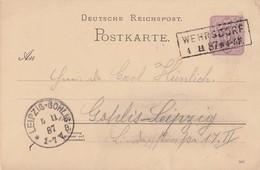 DR Ganzsache K2 Wehrsdorf 4.11.87 - Briefe U. Dokumente