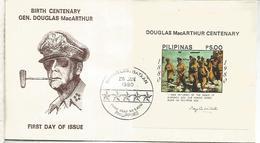 FILIPINAS WW2 GENERAL MACARTHUR GUERRA MUNDIAL PHILIPPINES  TABACO - Militares