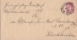 DR Brief EF Minr.41 K1 Paderborn 14.1.85 Gel. Nach Kirchborchen K1 Nordborchen 14.1.85 - Deutschland