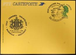 Entier Postal 2484A-CP- Amicale Philatélique Des Gobelins- 25-26/10/86 - Congrés Régional Philatélique Forcalquier - Postal Stamped Stationery