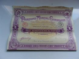 PARFUMS MARCEL GUERLAIN (part Bénéficiaire) Suresnes - Hist. Wertpapiere - Nonvaleurs