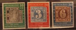 Bund FRG 1949 Mi. 113-115, (*) Without Gum - BRD