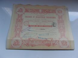 GRANDES TUILERIES ET BRIQUETERIES TOULOUSAINES (1914) - Hist. Wertpapiere - Nonvaleurs