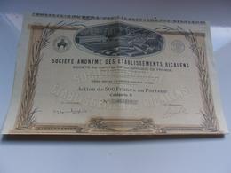 RICALENS (1928) LAROQUE D'OLMES-ARIEGE - Aandelen