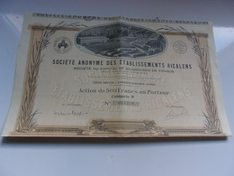RICALENS (1928) LAROQUE D'OLMES-ARIEGE - Hist. Wertpapiere - Nonvaleurs