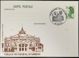 Entier Postal 2484-CP1- Liberté De Gandon - Centenaire Du Cirque - Postal Stamped Stationery