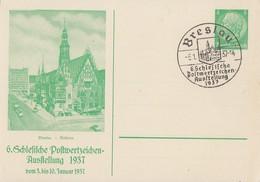 DR Privat-GS Minr.PP126 C16 SST Breslau 6.1.37 - Briefe U. Dokumente