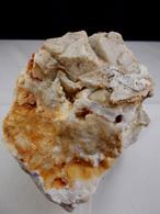 PSEUDOMORPHOSE D'OCTAEDRE DE FLUORINE EN QUARTZ  10, X 9, CM AUROUZE - Minéraux