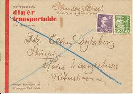 Denmark Cover Söndagsbrev (Sunday Letter) But No Postmarks On Stamps Or On Cover - 1913-47 (Christian X)