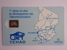 Télécarte - TCHAD - 1ère Phase Du Plan De Développement Des Télécommunications - Tchad