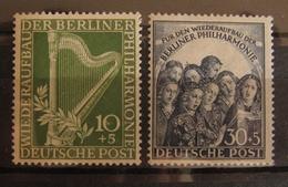 Berlin Philharmonie 1950, Mi. 72-73 (*) Without Gum - Berlin (West)