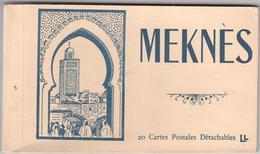 Meknes - 20 Cartes Postales Détachables - & Booklet 20 Cards Complete - Sin Clasificación