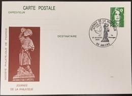 Entier Postal 2484-CP1- Liberté De Gandon - Journée De La Philatélie - 16-18/03/90 - Amiens - Postal Stamped Stationery
