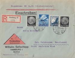 DR R-NN-Brief Mif Minr.2x 512,532,603 Hamburg 22.1.36 - Briefe U. Dokumente