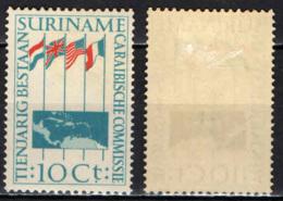 SURINAME - 1956 - 10th Anniv. Of Caribbean Commission - MH - Suriname