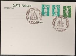 Entier Postal 2622-CP1- Marianne Du Bicentenraire - Congrés Philatélique Forcalquier 26-27/10/91 - Postal Stamped Stationery