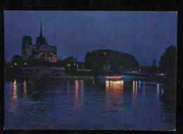 CPM 75 PARIS Notre Dame La Seine Et L'île Saint Louis La Nuit - Notre Dame De Paris