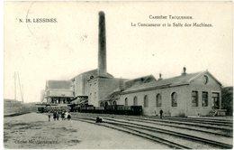 Lessines. Lessen. Carrière Tacquenier. Le Concasseur Et La Salle Des Machines. Wagons. Circulé En 1911. Steengroeve. - Lessen